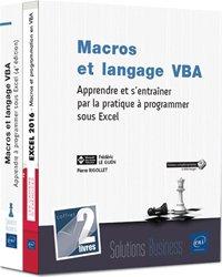 Dernières parutions dans Coffret Bureautique, Macros et langage vba - Coffret de 2 livres