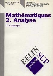 Dernières parutions dans Belin Sup , Mathématiques 2. Analyse