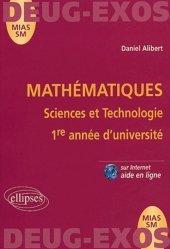 Dernières parutions sur Maths pour les SVT, Mathématiques Sciences et Technologie 1ère année d'université