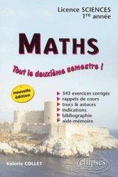 Dernières parutions sur Maths pour les SVT, Maths Tout le deuxième semestre !