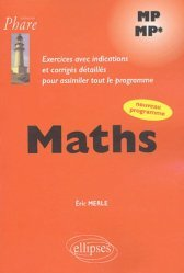 Dernières parutions dans Phare, Maths MP - MP*
