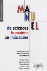 Souvent acheté avec Embryologie humaine, le Manuel de sciences humaines en médecine