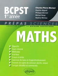 Souvent acheté avec Mathématiques Résumé du cours en fiches BCPST 1re et 2e années, le Mathématiques BCPST 1e année