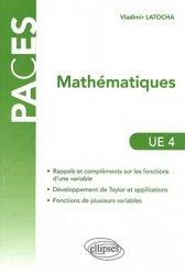 Souvent acheté avec Éléments de biostatistiques, le Mathématiques UE4 mathématique, biostatistique