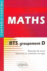 Dernières parutions dans Contrôle continu, Maths BTS groupement D