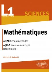 Souvent acheté avec Mathématiques tout-en-un MPSI, le Mathématiques L1