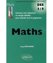 Dernières parutions dans Phare, Mathématiques ECS-1 1er semestre