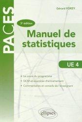 Souvent acheté avec Mini Manuel de Chimie générale, le Manuel de statistiques