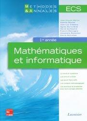 Dernières parutions dans Méthodes et annales, Mathématiques et informatique ECS 1re année