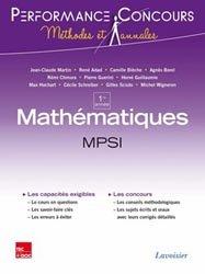 Dernières parutions dans Méthodes et annales, Mathématiques et informatique MPSI  1re année