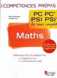 Dernières parutions dans Compétences prépas, Maths 2e année PC PC  PSI PSI