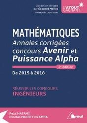 Dernières parutions sur Maths pour l'ingénieur, Mathématiques - Annales corrigées concours Avenir et Puissance Alpha