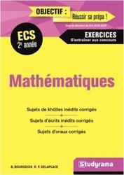 Dernières parutions sur Maths pour la prépa, Maths 2e année ECS