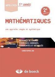 Souvent acheté avec Option informatique MPSI - MP/MP*, le Mathématiques MPSI / PCSI 1re année