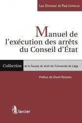 Dernières parutions sur Conseil d'état, Manuel de l'exécution des arrêts du conseil d'Etat