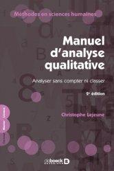 Dernières parutions sur Analyse, Manuel d'analyse qualitative