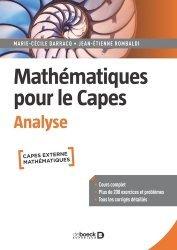 Dernières parutions sur Capes - Agreg, Mathématiques pour le CAPES