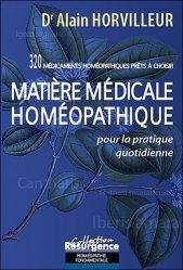 Dernières parutions dans Résurgence, Matière médicale homéopathique pour la pratique quotidienne