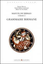 Dernières parutions sur Birman, Manuel de Birman Volume 2 : Grammaire birmane