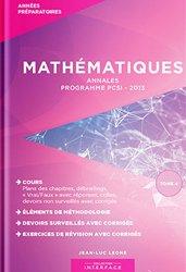 Mathématiques - Annales - Programme PCSI 2013