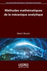 Dernières parutions dans génie mécanique et mécanique des solides, Méthodes mathématiques de la mécanique analytique