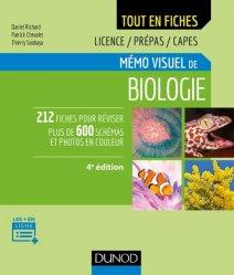 Dernières parutions dans Tout en fiches, Mémo visuel de biologie - 4e éd.