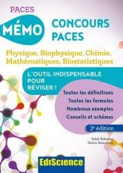 Dernières parutions sur PAES - PACES - MMOP, Mémo Concours PACES