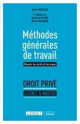 Dernières parutions sur Méthodes de travail, Méthodes générales de travail. 4e édition