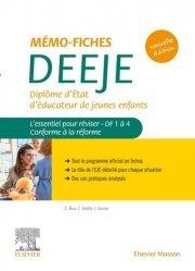 Dernières parutions sur Paramédical, Mémo-fiches DEEJE - Diplôme d'Etat d'éducateur de jeunes enfants