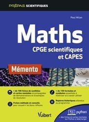 Dernières parutions dans Prépas scientifiques, Mémento maths