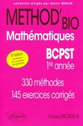 Souvent acheté avec Géologie tout-en-un BCPST 1re et 2e années, le Method'bio Mathématiques BCPST  1er année