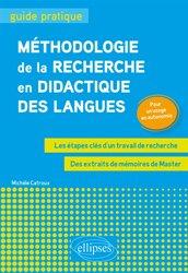 Dernières parutions sur Méthodes de langue, Méthodologie de la recherche en didactique des langues
