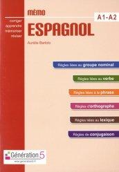Dernières parutions sur Méthodes de langue (scolaire), Mémo espagnol A1-A2