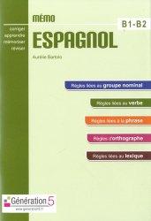 Dernières parutions sur Méthodes de langue (scolaire), Mémo espagnol B1-B2