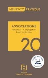 Dernières parutions sur Associations, Mémento Associations, Fondations, Congrégations et fonds de dotation 2020