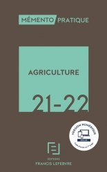 Dernières parutions sur Droit rural, Mémento Agriculture 2020-2021