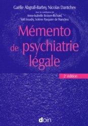 Dernières parutions sur Psychiatrie légale, Mémento de psychiatrie légale