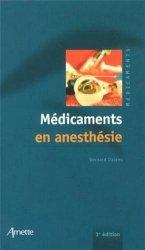 Dernières parutions sur Anesthésie, Médicaments en Anesthésie