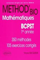 Souvent acheté avec Physique 1ère année BCPST - VÉTO, le Method'bio Mathématiques BCPST  1er année