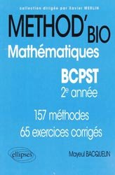 Souvent acheté avec Biologie-Géologie 2éme année BCPST- Véto, le Method'bio - Mathématiques BCPST