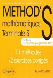 Nouvelle édition Method's mathématiques Terminales S