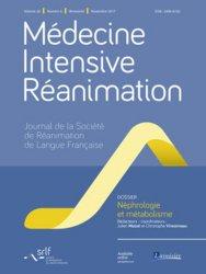 Dernières parutions sur Anesthésie - Réanimation, Médecine Intensive Réanimation Volume 26 N° 6, novembre 2017 : Néphrologie et métabolisme