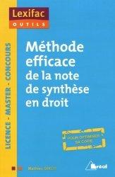Dernières parutions sur Note de synthèse, Méthode efficace de la note de synthèse en droit