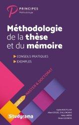 Nouvelle édition Méthodologie de la thèse et du mémoire