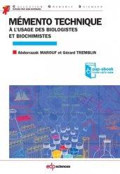 Dernières parutions sur Biotechnologies, Mémento technique