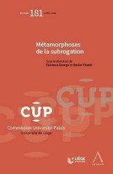 Dernières parutions dans Commission Université-Palais, Métamorphoses de la subrogation