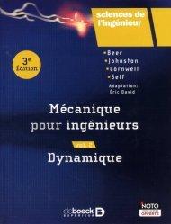 Dernières parutions sur Mécanique, Mécanique pour ingénieurs Volume 2