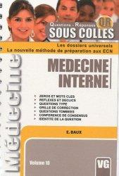 Souvent acheté avec Médecine interne, le Medecine Interne
