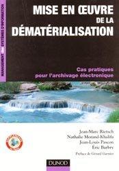 Dernières parutions dans Management des systèmes d'information, Mise en oeuvre de la dématérialisation