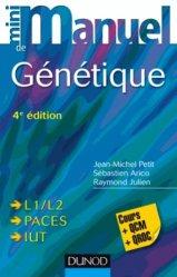 Souvent acheté avec Maths 1ère année BCPST VÉTO, le Mini Manuel de Génétique chimie organique, chimie générale, biochimie,